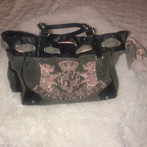 Juicy Couture Gray & Pink Handbag Purse